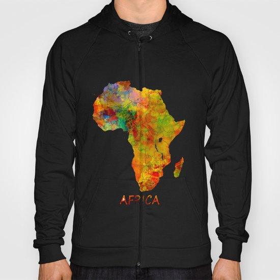 Africa map colored Hoody