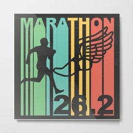 Retro Marathon Metal Print