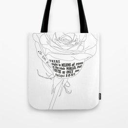 Unique Rose Tote Bag