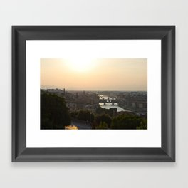 firenze - summer Framed Art Print