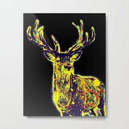Elk Wpap Pop Art Metal Print