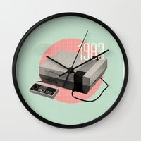 nintendo Wall Clocks featuring Nintendo by Vold1