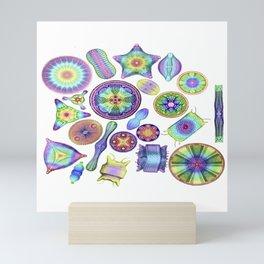 Ernst Haeckel Rainbow Diatom Tossed Mini Art Print