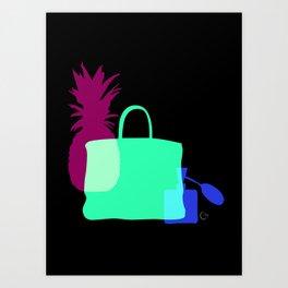 Moments with pineapple, birkin and perfume Art Print
