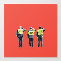 police Canvas Prints featuring Police  by shaymultimedia
