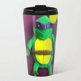 purple mask Turtle Travel Mug