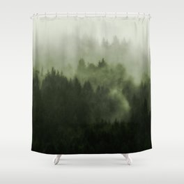 Drift - Green Mountain Forest Shower Curtain