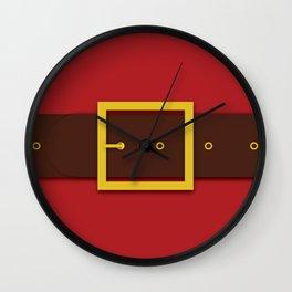 Santa's Belt - Christmas Illustration Wall Clock