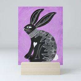Folk Art Bunny Mini Art Print