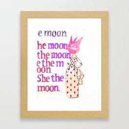 She the moon Framed Art Print