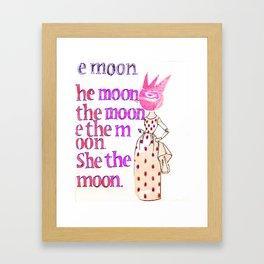 She the moon Framed Art Print
