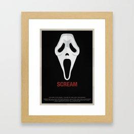 SCREAM Framed Art Print