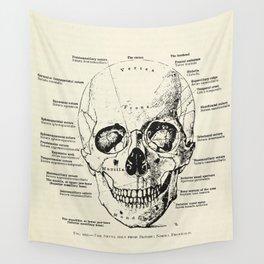 Vintage Anatomy Skull  Wall Tapestry