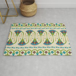 Egyptian Floral Border Pattern 2 Rug