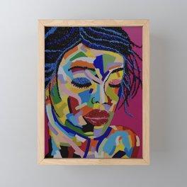 Pop Art woman face colors Fauve Lady 1 rock Framed Mini Art Print