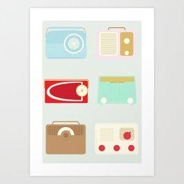 Radios Art Print