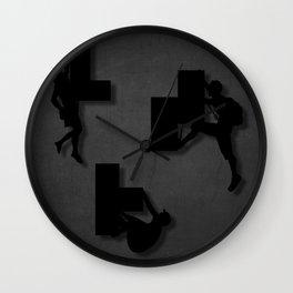 Block Climber Wall Clock