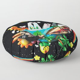 bad bunny tour 2020 2021 oasis maknyak Floor Pillow