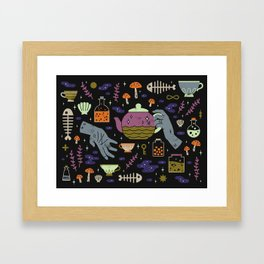Spooky Horoscopes: Pisces Framed Art Print