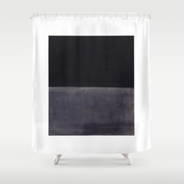 Untitled (Black on Grey) by Mark Rothko Shower Curtain