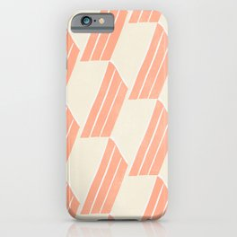 minimalist series: pink hex tiles iPhone Case