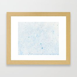 Blue Splatter Paint (Color) Framed Art Print