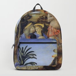 The Baptism Of Christ By Andrea Del Verrocchio  Backpack
