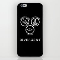 divergent iPhone & iPod Skins featuring Divergent (White) by Lunil