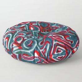 Jack Teal/Red Floor Pillow