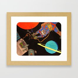 """You're Going to Die in Space!!"" Framed Art Print"