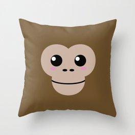 Baby Monkey. Kids & Puppies Throw Pillow