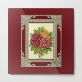 Bunch of Roses red design Metal Print
