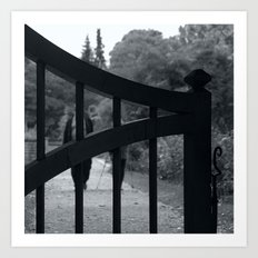 Coming towards You behind the gates of nature Art Print