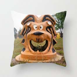 The Cowardly Lion, Bernstein Park, Monroe, LA. Throw Pillow