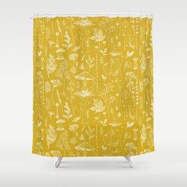 Woodland Walk / Mustard Shower Curtain
