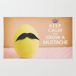 Keep Calm & Grow A Mustache Rug