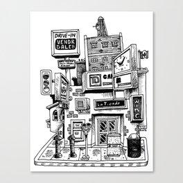 Downtown Brandon Manitoba Canvas Print