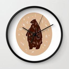cute grizzly bear Wall Clock
