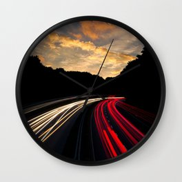 timelapse car red Wall Clock