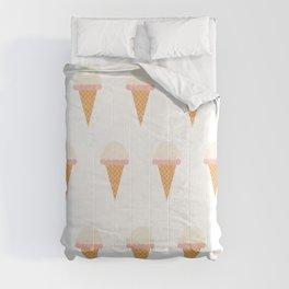 Strawberry and Vanillia Ice-creams Comforters