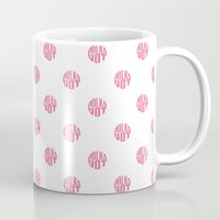 polka dot Mugs featuring Polka Dot by Ryan Winters