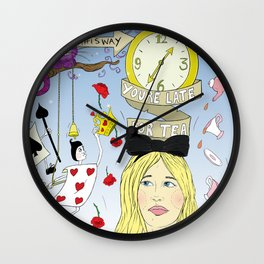 The Madness of Wonderland & The Mischievous Cheshire Cat Wall Clock