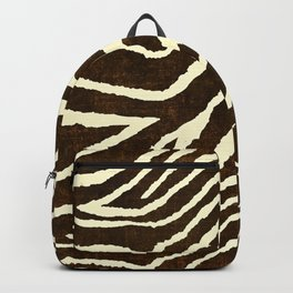 ZEBRA IN WINTER BROWN AND WHITE Backpack