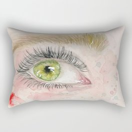 Beautiful green eye Rectangular Pillow