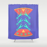 lobster Shower Curtains featuring lobster by pam beach