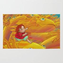 Flight of the Goldfish Rug