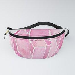 Rose Quartz Watercolor Fanny Pack