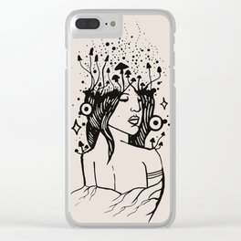Queen of Spores Clear iPhone Case