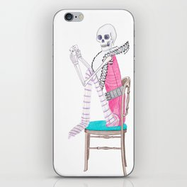 circus skeleton iPhone Skin