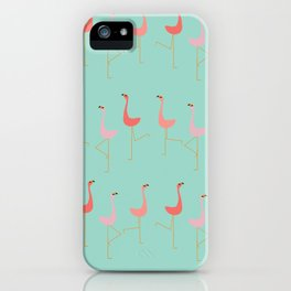 MARCH OF THE FLAMINGOS iPhone Case